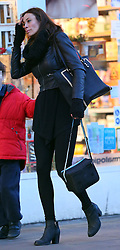 Melanie Sykes dressed in all black out and about on a chilly day in London. The TV presenter and model has recently split from her husband Jack Cockings in just weeks after she was arrested and cautioned for alleged domestic assault, according to a report... UK. 11/12/2013<br />BYLINE MUST READ : JAMESY/GOTCHA IMAGES<br /><br />Copyright by © Gotcha Images Ltd. All rights reserved.<br />Usage of this image is conditional upon the acceptance <br />of Gotcha Images Ltd, terms and conditions available at<br />www.gotchaimages.com