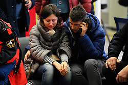 Relatives of victims of the crashed plane wait at the Rostov-on-Don airport, in Russia, March 19, 2016. A Boeing 737-800 passenger plane from Dubai crashed at the destination airport in southwestern Russia early Saturday, killing all the 62 people on board, authorities said. EXPA Pictures © 2016, PhotoCredit: EXPA/ Photoshot/ Sputnik<br /> <br /> *****ATTENTION - for AUT, SLO, CRO, SRB, BIH, MAZ, SUI only*****