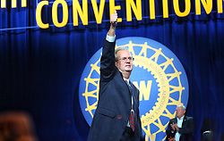 June 14, 2018 - Detroit, Michigan, U.S. - GARY JONES is elected the new president of the United Auto Workers Union during the 37th UAW Constitutional convention at the Cobo Center in Detroit on Thursday. (Credit Image: © Kimberly P. Mitchell/TNS via ZUMA Wire)