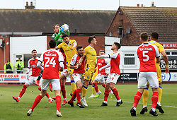 Alex Cairns of Fleetwood Town catches the ball from a corner - Mandatory by-line: Matt McNulty/JMP - 27/04/2019 - FOOTBALL - Highbury Stadium - Fleetwood, England - Fleetwood Town v Bristol Rovers - Sky Bet League One