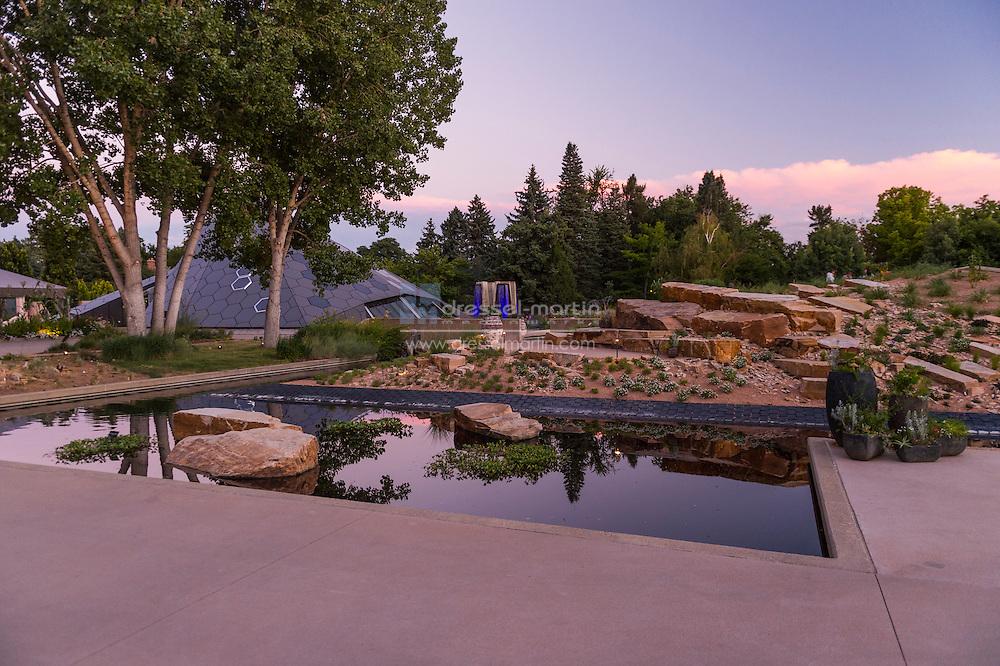 summer evening steppe science pyramid gardens