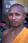 CAMBODIA - Angkor.Portrait of monk at Roluos