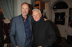 Left to right, SIMON OAKES co owner of Hammer films and actor MALCOLM McDOWELL at a party hosted by Allegra Hicks to launch Lapo Elkann's fashion range in London held at Allegra Hicks, 28 Cadogan Place, London on 14th November 2007.<br />