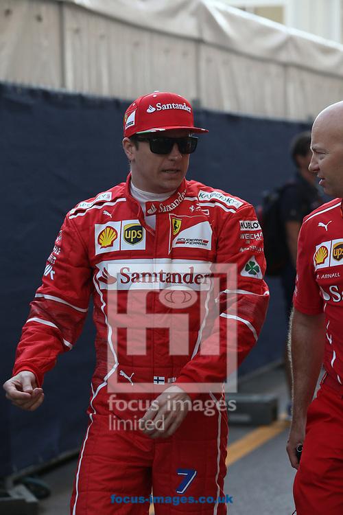 Kimi Raikkonen of Scuderia Ferrari during the practice session for the 2017 Monaco Formula One Grand Prix at the Circuit de Monaco, Monte Carlo<br /> Picture by EXPA Pictures/Focus Images Ltd 07814482222<br /> 25/05/2017<br /> *** UK &amp; IRELAND ONLY ***<br /> <br /> EXPA-EIB-170525-0069.jpg