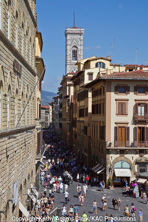 Piazza della Signoria, in Florence, Firenze, Italy.