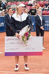 Caroline Wozniacki (Denmark)  at the 2017 WTA Ericsson Open in Båstad, Sweden, July 30, 2017. Photo Credit: Katja Boll/EVENTMEDIA.