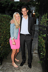 ASTRID HARBORD and JAMES ROTHSCHILD leaving a summer party hosted by Lady Annabel Goldsmith at her home Ormeley Lodge, Ham Gate, Richmond on 13th July 2010.