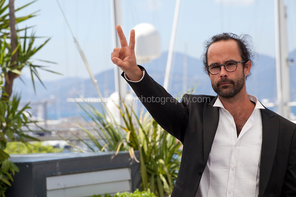 Cédric Herrou at the Libre film photo call at the 71st Cannes Film Festival, Friday 18th May 2018, Cannes, France. Photo credit: Doreen Kennedy