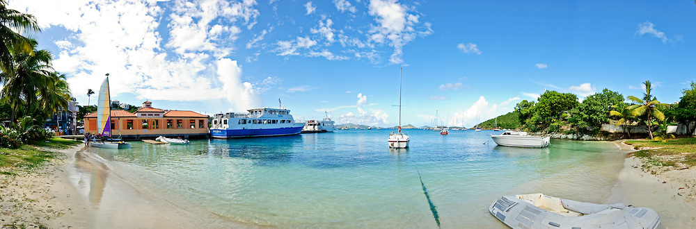 Ferry terminal in Cruz Bay, St. John, US Virgin Islands