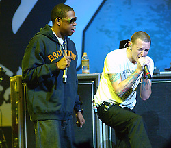 Chester Bennington of Linkin Park Rock in Rio USA Music Festival at the MGM Resorts Festival Grounds, May 9, 2015 Las Vegas, NV. 09 May 2015 Pictured: Bennington, Chester & Jay-Z. Photo credit: JPA / AFF-USA.COM / MEGA TheMegaAgency.com +1 888 505 6342