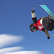Peter Crook, British Virgin Islands, in action in the Men's Halfpipe Finals during The North Face Freeski Open at Snow Park, Wanaka, New Zealand, 3rd September 2011. Photo Tim Clayton....
