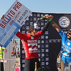 Jordy Smith of South Africa has won The Ballito Pro presented by Billabong for the second time in his career at Willard Beach, Ballito, South Africa.  Smith defeated Willian Cardoso of Brazil in the final to claim the illustrious title Ballito Pro Champion and US$40,000 in prize money during the The Ballito Pro at Willard Beach, Ballito, South Africa. (Photo Brian Spurr)