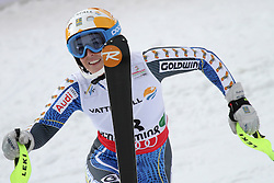 16.02.2013, Planai, Schladming, AUT, FIS Weltmeisterschaften Ski Alpin, Slalom, Damen, 2. Durchgang, im Bild Maria Pietilae-Holmner (SWE) // Maria Pietilae-Holmner of Sweden reacts after womens Slalom at the FIS Ski World Championships 2013 at the Planai Course, Schladming, Austria on 2013/02/16. EXPA Pictures © 2013, PhotoCredit: EXPA/ Martin Huber