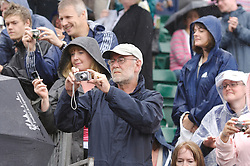 Liverpool, England - Wednesday, June 13, 2007: Fans take photographs on centre court  at Calderstones during action on day two of the Liverpool International Tennis Tournament. For more information visit www.liverpooltennis.co.uk. (Pic by David Rawcliffe/Propaganda)