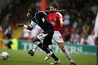 Photo: Rich Eaton.<br /> <br /> Bristol City v Swansea City. Coca Cola League 1. 07/04/2007. Kevin Amankwaah left of Swansea and Bristols Cole Skuse