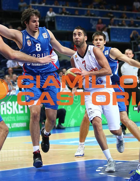 DESCRIZIONE : Vilnius Lithuania Lituania Eurobasket Men 2011 Second Round Spagna Serbia Spain Serbia<br /> GIOCATORE : Juan Carlos Navarro<br /> CATEGORIA : palleggio penetrazione<br /> SQUADRA : Spagna Spain<br /> EVENTO : Eurobasket Men 2011<br /> GARA : Spagna Serbia Spain Serbia<br /> DATA : 09/09/2011<br /> SPORT : Pallacanestro <br /> AUTORE : Agenzia Ciamillo-Castoria/G.Matthaios<br /> Galleria : Eurobasket Men 2011<br /> Fotonotizia : Vilnius Lithuania Lituania Eurobasket Men 2011 Second Round Spagna Serbia Spain Serbia<br /> Predefinita :
