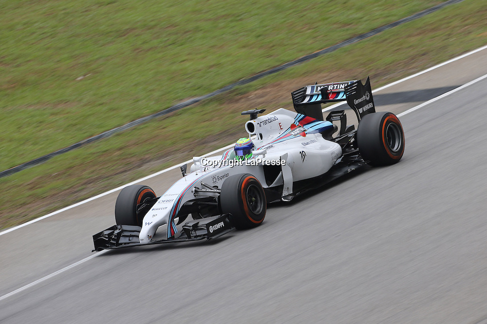 &copy; Photo4 / LaPresse<br /> 29/3/2014 Sepang, Malaysia<br /> Sport <br /> Grand Prix Formula One Malaysia 2014<br /> In the pic: Felipe Massa (BRA) Williams F1 Team FW36