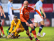 Luton Towns captain Scott Cuthbert celebrates Luton Towns second goal of the first half during the EFL Sky Bet League 2 play off second leg match between Luton Town and Blackpool at Kenilworth Road, Luton, England on 18 May 2017. Photo by Ian  Muir.