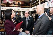 Conférence de presse sur la récupération des appareils électroniques et informatiques., CFER Mgr-Parent, St-Hubert, Québec, Canada, 172008031732008. © Photo Marc Gibert / adecom.ca