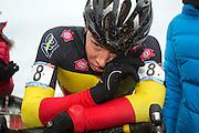 BELGIUM / ZOLDER / CYCLING / WIELRENNEN / CYCLISME / CYCLOCROSS / CYCLO-CROSS / VELDRIJDEN / WERELDBEKER / WORLD CUP / COUPE DU MONDE / U23 / AANKOMST / FINISH / ARRIVEE / ZIEL / LAURENS SWEECK (BEL) /