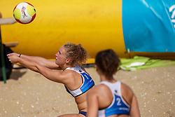 23-08-2019 NED; DELA NK Beach Volleyball Qualification, Scheveningen<br /> First day NK Beachvolleyball / Ana Rekar, Emma Rekar