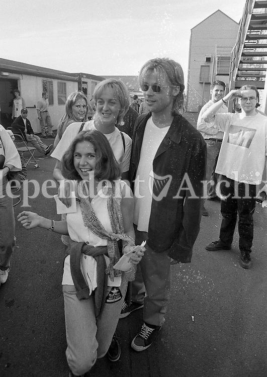 Brad Pitt signing autographs and taking pictures with Fans after the Bryan Adams concert at The Point Depot, Dublin, 22/07/1996 (Part of the Independent Newspapers Ireland/NLI Collection).