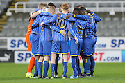 AFC Wimbledon during the FA Youth Cup match between Newcastle United and AFC Wimbledon at St. James's Park, Newcastle, England on 6 January 2016. Photo by Stuart Butcher.