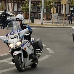 Activit&eacute; des forces de S&eacute;curit&eacute; Int&eacute;rieure, Gendarmerie Nationale (Centre de Planification et de Gestion de Crise), Garde R&eacute;publicaine, Formations A&eacute;riennes de Gendarmerie) et Police Nationale (Motards, CRS) dans le cadre de la s&eacute;curisation du sommet du G8 &agrave; Deauville.<br /> mai 2011 / Deauville / Camvados (14) / FRANCE<br /> Cliquez ci-dessous pour voir le reportage complet (88 photos) en acc&egrave;s r&eacute;serv&eacute;<br /> http://sandrachenugodefroy.photoshelter.com/gallery/2011-05-Securisation-du-G8-a-Deauville-Complet/G0000gnu6pGv_6lE/C0000yuz5WpdBLSQ