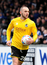 Bristol Rovers' Adam Dawson in action during the Vanarama Conference match between Bristol Rovers and Lincoln City at The Memorial Stadium on 7 February 2015 in Bristol, England - Photo mandatory by-line: Paul Knight/JMP - Mobile: 07966 386802 - 07/02/2015 - SPORT - Football - Bristol - The Memorial Stadium - Bristol Rovers v Lincoln City - Vanarama Conference
