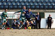 27.04.2006, Veritas Stadion, Turku, Finland..Veikkausliiga 2006 - Finnish League 2006.FC Inter Turku - Tampere United.Touko Tumanto (Inter) v Ville Lehtinen (TamU).©Juha Tamminen.....ARK:k