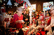 13-11-2014 - ROTTERDAM -  Princess Beatrix of the Netherlands opens Thursday November 13, 2014 the 90th Christmas in the Norwegian Church in Rotterdam netherlands. COPYRIGHT ROBIN UTRECHT