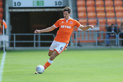 Blackpool Defender, Ben Heneghan (6) during the EFL Sky Bet League 1 match between Blackpool and Accrington Stanley at Bloomfield Road, Blackpool, England on 25 August 2018.