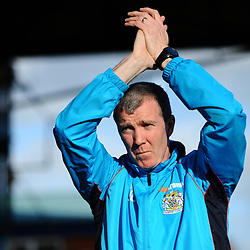 TELFORD COPYRIGHT MIKE SHERIDAN 16/2/2019 - Stockport boss Jim Gannon during the Vanarama Conference North fixture between Stockport County and AFC Telford United at Edgeley Park