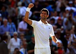 File photo dated 08-07-2017 of Novak Djokovic