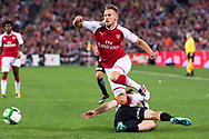 July 15 2017: Arsenal player Aaron Ramsey (8) at the International soccer match between English Premier League giants Arsenal and A-League team Western Sydney Wanderers at ANZ Stadium in Sydney.