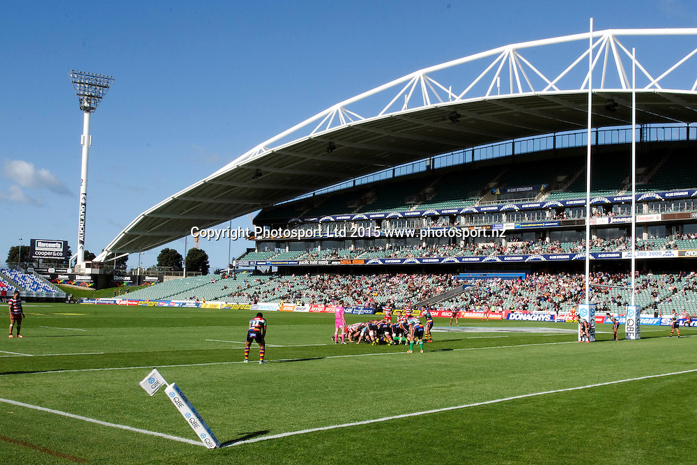 General Views of the QBE Stadium during the ITM Cup match between North Harbour and Counties Manukau. QBE Stadium, Auckland, New Zealand. Saturday 12 September 2015. Copyright Photo: Raghavan Venugopal / www.photosport.nz