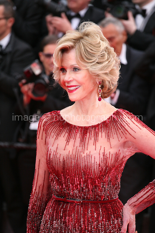 Jane Fonda at the the Grace of Monaco gala screening and opening ceremony red carpet at the 67th Cannes Film Festival France. Wednesday 14th May 2014 in Cannes Film Festival, France.
