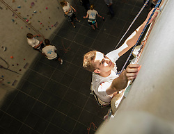 Pictured: Chris Graham (year 5 medical student) is the expedition leader<br /> <br /> Medical students from The University of Edinburgh are to study the impact on the body of low oxygen levels found at altitude during a visit to the Bolivian Andes. They were to be put through their paces in a climbing wall training session at the University's Centre for Sport and Exercise.<br /> Ger Harley | EEm 25 April 2017