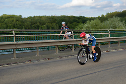 Gabrielle Pilote Fortin (Cervélo Bigla) speeds by a fan at Thüringen Rundfarht 2016 - Stage 4 a 19km time trial starting and finishing in Zeulenroda Triebes, Germany on 18th July 2016.