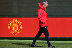 Manchester United manager Jose Mourinho walks out to training - Mandatory by-line: Matt McNulty/JMP - 11/09/2017 - FOOTBALL - AON Training Complex - Manchester, England - Manchester United v FC Basel - Press Conference & Training - UEFA Champions League - Group A
