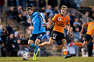 SYDNEY, AUSTRALIA - AUGUST 07: Sydney FC player Luke Brattan (26) held off the ball by Brisbane Roar player Stefan Mauk (13) during the FFA Cup round of 32 football match between Sydney FC and Brisbane Roar FC on August 07, 2019 at Leichhardt Oval in Sydney, Australia. (Photo by Speed Media/Icon Sportswire)