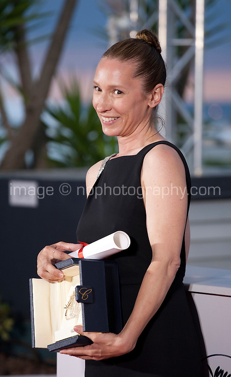 Actress Emmanuelle Bercot, winner of the Best Actress Prize for Mon Roi at the Palm D'Or award winners photo call at the 68th Cannes Film Festival Sunday May 24th 2015, Cannes, France.