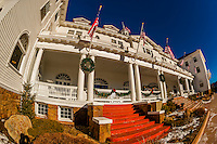 The historic Stanley Hotel, Estes Park, Colorado USA.