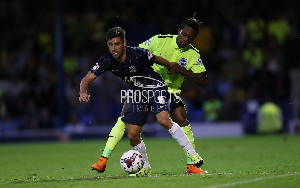 Southend United midfielder Michael Timlin during the Capital One Cup match between Southend United and Brighton and Hove Albion at Roots Hall, Southend, England on 11 August 2015.