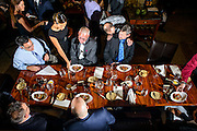 Photo by Matt Roth<br /> Assignment ID: 30148071A<br /> <br /> Guests are served short ribs during David Hagedorn and Michael Widomski wedding reception at Fiola Restaurant in Washington, DC, Sunday, September 22, 2013.