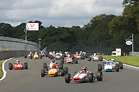 HSCC Gold Cup Oulton Park, Cheshire, United Kingdom.  28th-29th August 2011.  Race 4 HSCC Classic Racing Cars. Supported by Cubicle Centre Ltd. 1 Ian Gray Brabham BT16. World Copyright: Peter Taylor/PSP. Copy of publication required for printed pictures. Every used picture is fee-liable.