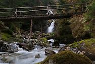River crossing in Tatras National Park. Slovakia.