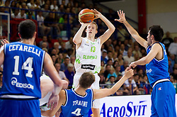 Miha Lapornik of Slovenia during basketball match between National team of Slovenia and Italy in First Round of U20 Men European Championship Slovenia 2012, on July 12, 2012 in Domzale, Slovenia.  (Photo by Vid Ponikvar / Sportida.com)