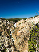High-angle view of the Lower Falls of the Yellowstone River, from Artist's Point, Yellowstone National Park, Wyoming, United States