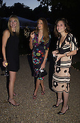 Kate Reardon, Jemima Khan and Sheherazade Goldsmith, House of Courvoisier Anya Hindmarsh 10th Anniversary Party, Chelsea Physic Garden, 4 September 2003. © Copyright Photograph by Dafydd Jones 66 Stockwell Park Rd. London SW9 0DA Tel 020 7733 0108 www.dafjones.com